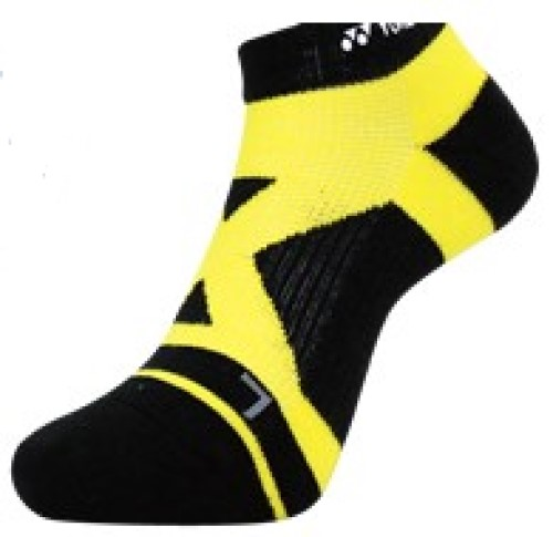 2 Pairs High Qualiity Yonex Socks 14510TR-400, 25-28cm, Black/Yellow, Made in Taiwan
