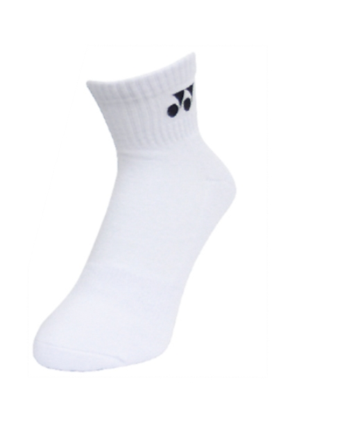 2 Pairs High Qualiity Yonex Socks 14628TR-011, 25-28cm, White, Made in Taiwan