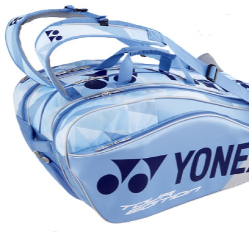 2019 YONEX 9-Racquet Pro Thermal Bag 9829EX, Clear Blue
