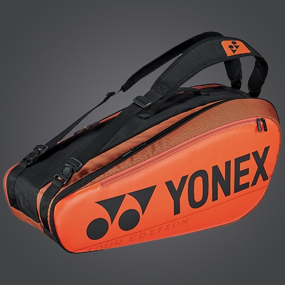 YONEX 6 Tennis/8+ Badminton Racquet Pro Tournament Bag BA92026EX, Orange, 2020 New