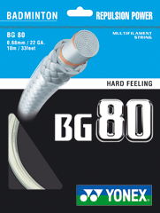 YONEX BG80 String, High Repulsion (10 PACKS)
