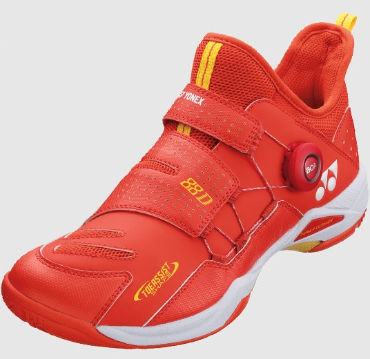 2020 Yonex 88 Dial Badminton Shoes SHB88D, Red, Power Cushion, BOA Fit System