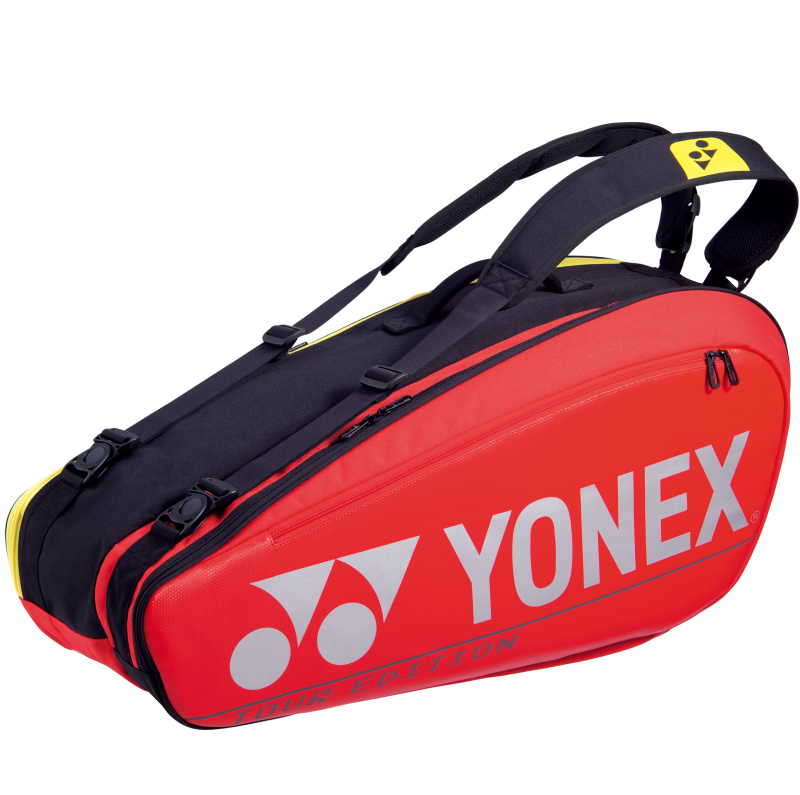 YONEX 6 Tennis/8+ Badminton Racquet Pro Tournament Bag BA92026EX, Red, 2021 New