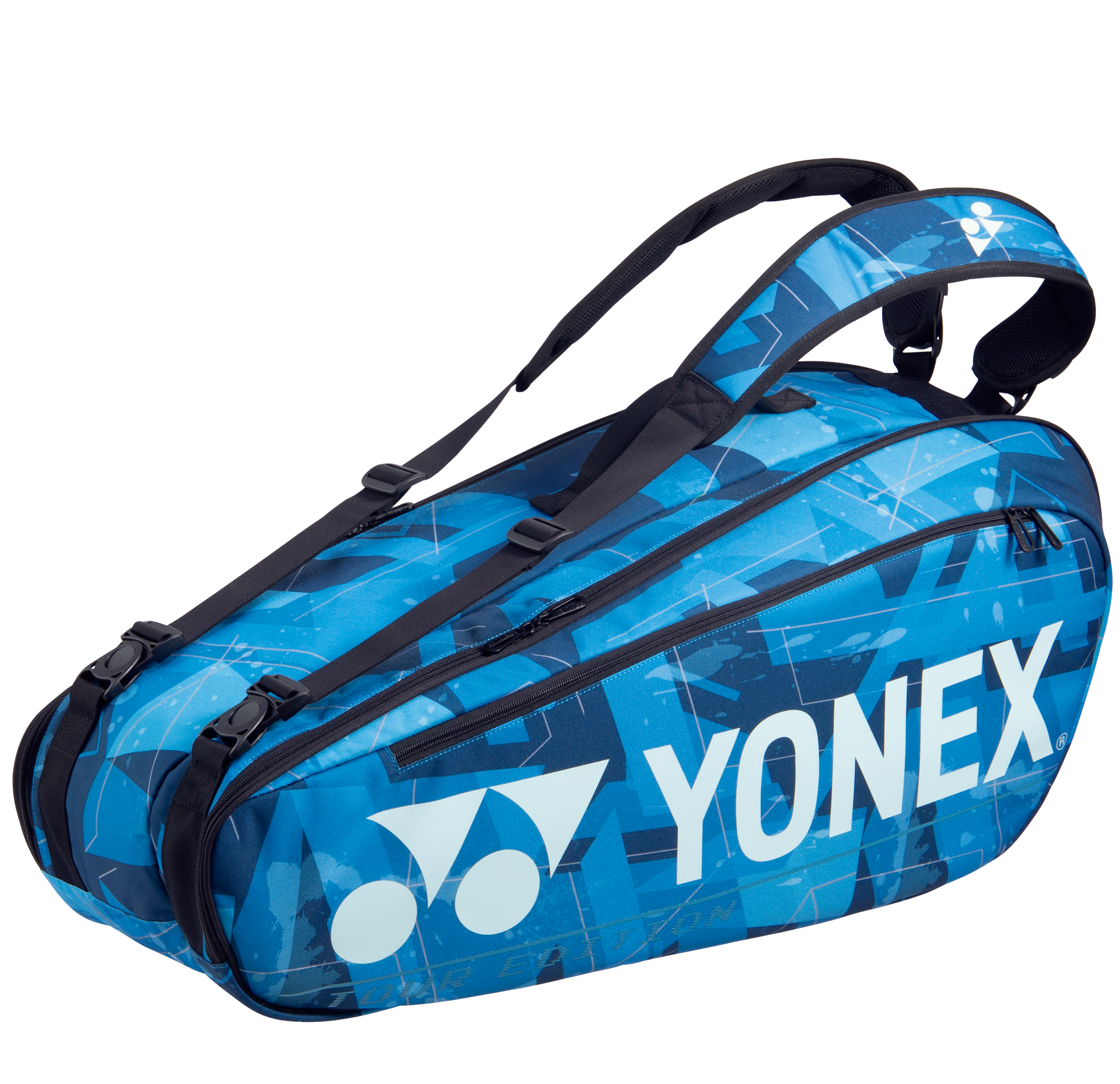 YONEX 6 Tennis/8+ Badminton Racquet Pro Tournament Bag BA92026EX, Water Blue, 2021 New