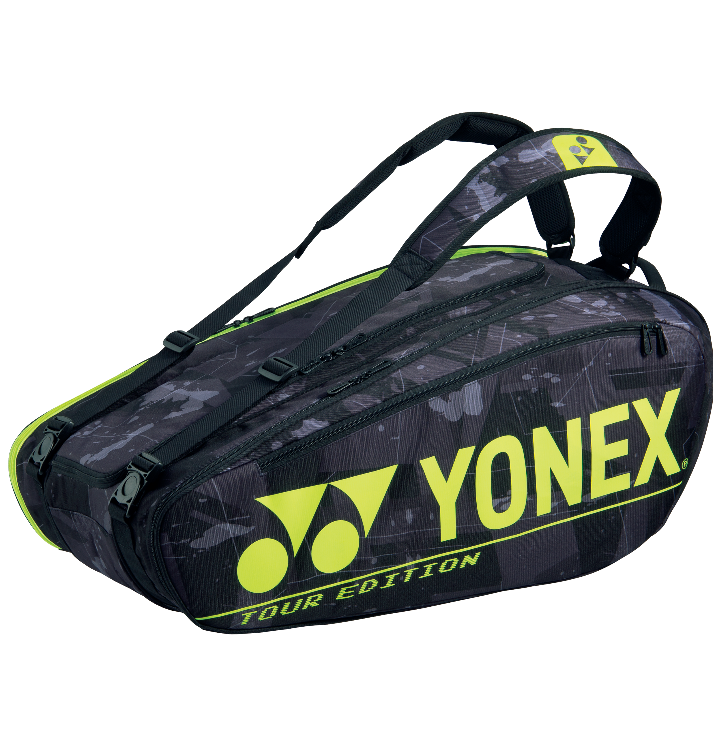 YONEX 9 Tennis/12+ Badminton Racquet Pro Thermal Bag BA92029EX Black/Yellow, 2021 New