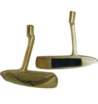 BPS-B Calibre Brass Balata Putter - Stainless Steel Shaft