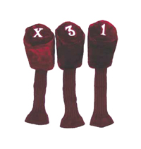 "HC-3 Acrylic Tadpole Headcovers - 6"" Tall Head Cover, 11"" Long Shaft Cover - Set of 3"