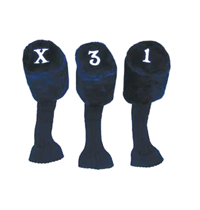 "HC-S3 Acrylic Tadpole Headcovers - 5.5"" Tall Head Cover, 8.5"" Shaft Cover - Set of 3"