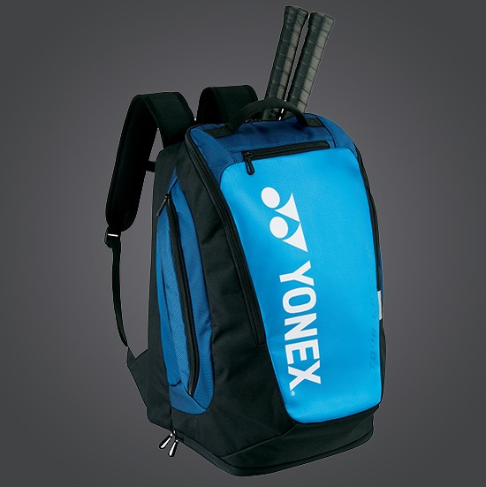 YONEX Pro BackPack Racket Bag BA92012MEX Black/Blue w/Shoe Pockets & Many Pockets