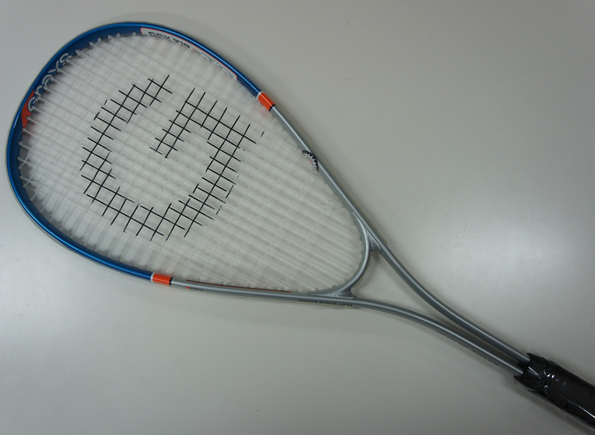 Genuine Grays GSX-100 Squash Racquet with Cover, Alloy, Strung