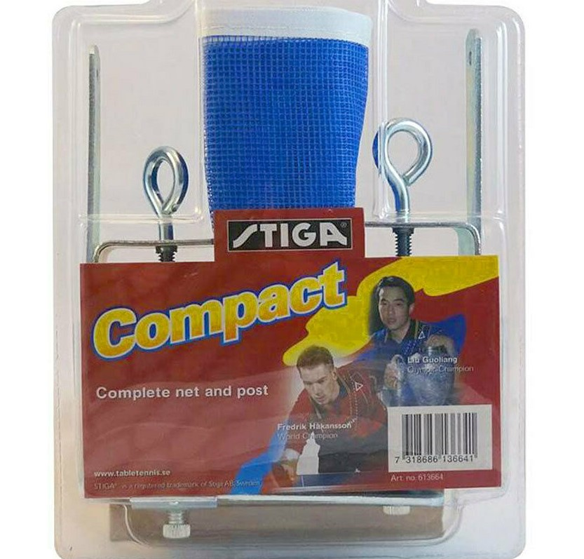 ONE Stiga Compact Net & Post Table Tennis Set, Screw-On