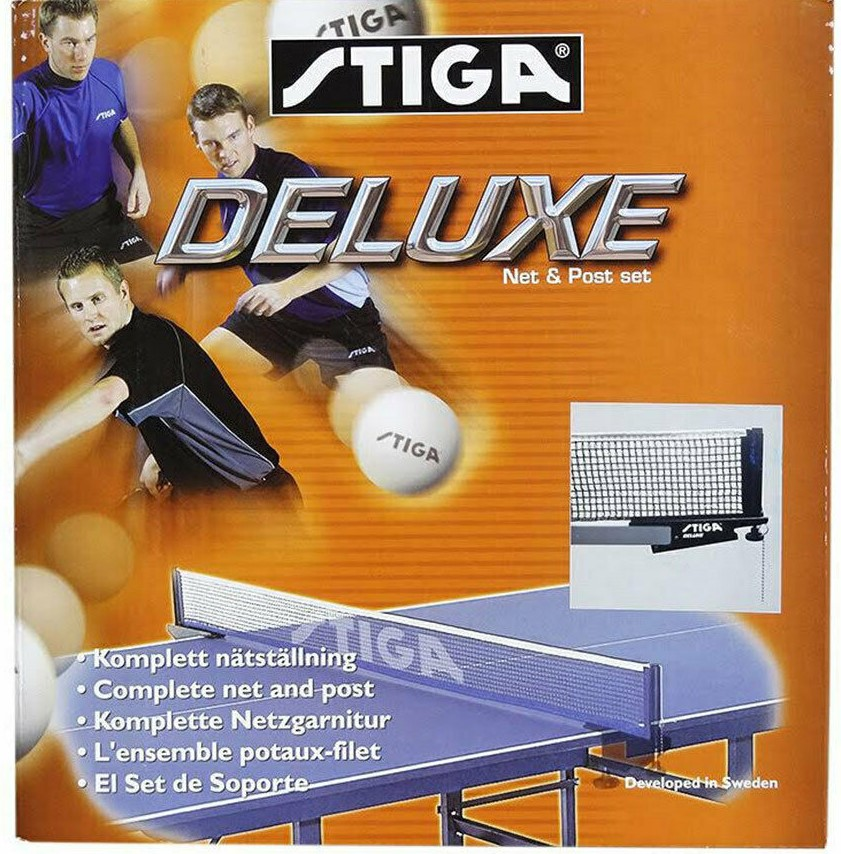 ONE Stiga Deluxe Net & Post Table Tennis Set, Clamp-On