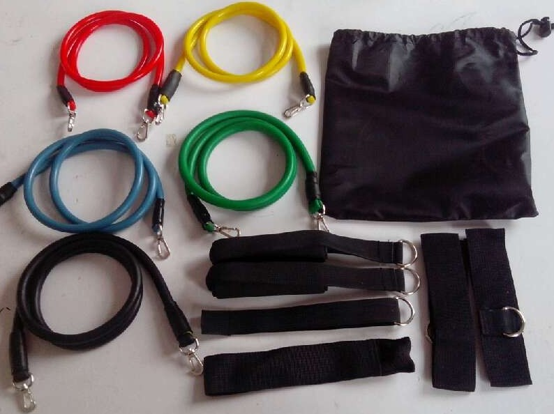High Quality 12-Pcs Natural Rubber Latex Resistance Bands, 5 Resistance Levels
